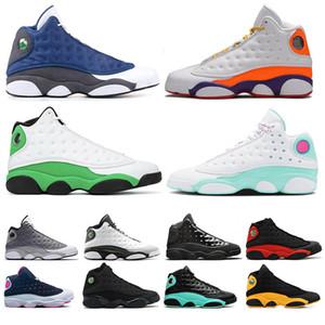 nike air jordan retro 13  hommes Chaussures de basket-Melo Classe 2002 Cap and Gown Altitude Black Cat Atmosphère Bred chaussures de sport gris Chicago