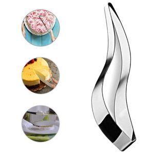 스테인레스 스틸 케이크 커터 슬라이서 곡선 통합 케이크 절단 금형 완벽한 주방기구 가젯 무스 케이크 절단 클립 BH3063 TQQ