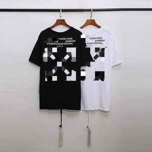 OFF Tide brand WHITE European and American high street Sydney limited lattice arrow men and women loose short-sleeved T-shirt couple