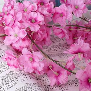 10pcs Simulation Hanging Sakura Blossom Begonia Vigne Party Scène de mariage Decors de fleurs artificielles Accessoires Tuyau Décoration
