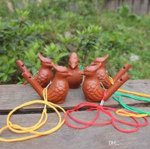 Bird Shape Whistle Ceramic Arts And Crafts Creative Kid Toys Gift Water Ocarina Hot Sale SN1772