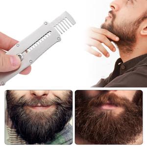 Labra la herramienta Barba Barba de acero inoxidable Peine plegable que endereza el peine de los hombres de alta calidad portátil conveniente Inofensivo