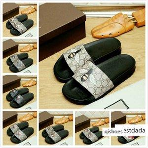Luxury Men Women Sandals Designer Shoes Slippers Pearl Snake Print Luxury Slide Summer Wide Flat Sandals Slipper Dust Bag 38-44