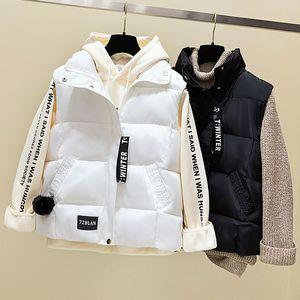 Gagarich Donna Gilet 2019 nuovo solido filiere corte Collare del mandarino Zipper senza maniche casual inverno coreano versione femminile Vest