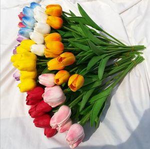 Моделирование тюльпан Pu тюльпан мини Тюльпан свадебные проекты украшения дома невеста держала букет в руке Y53