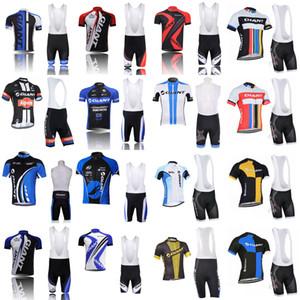 GIANT team فريق ركوب الدراجات بأكمام قصيرة ، شورتات للدراجات ، بلايز ، قمصان ، بلايز + 3D جل مبطن D1311