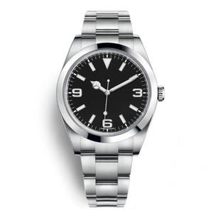 Outdoor 40MM automática Mens Watch relógios com aço fixado cúpula inoxidável Bezel Sapphire e marcadores de minutos em torno da Outer Rim