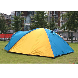 New 3-4 Person Separated Dual Layer Camping Tent 320x210x145cm Outdoor Waterproof Summer Tent for Hiking Fishing Travel Hunting T191001