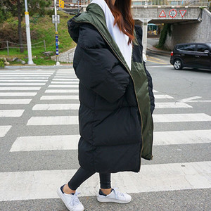 Parka Winter Jacket Thick Women Warm Snow Long 2019 Coat Female Hooded Plus Size Ladies Puffer Quilted Big Large Top Outerwear T191128