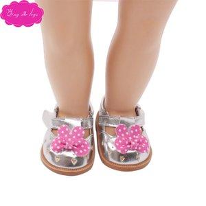 """Velcro düz ayakkabılar yay 18 """"American Girl bebek elbisesi S122"""