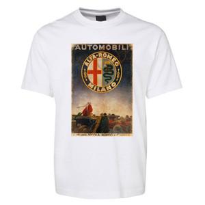 New Black Alfa Romeo Automobili Car T Shirt 100% cotone Taglia S - 5xl 7xl