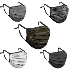 Camouflage Maschera maschere antipolvere Moda traspirante lavabile riutilizzabili per gli uomini le donne in bicicletta e Maschera di trasporto