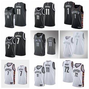 BrooklynNetsMen Kevin Durant MVP Jersey Kyrie Irving 2019-20 Statement Gray Jersey D'Angelo Russell basketball Jersey