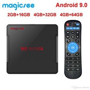 Magicsee Н5 Нова 4 ГБ 64 ГБ RK3318 четырехъядерный Android коробка TV 9.0 2.4 г 5г беспроводной доступ в интернет ВТ4.0 телеприставки смарт 4K видео H. 264 к Н96был максимум