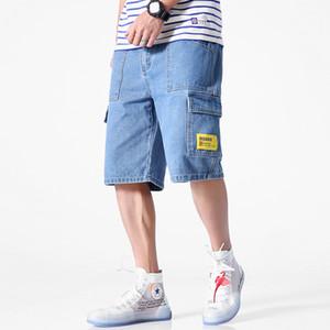 BQODQO 2019 джинсы для мужчин Плюс Размер Шорт повседневных летних игр Мода шорт Идущего Streetwear Casual Trendy Свободного Комфортными