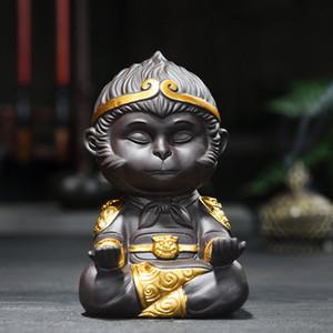 الصينية بيربل كلاي الكونغ فو مجموعة الشاي الشاي الحيوانات الأليفة الملك القرد الشاي الصيني الاسود الديكور المنزلي ترويج