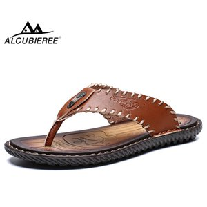 ALCUBIEREE Summer Slides Men High Quality Slippers Shoes Breathable Flip Flop Casual Sandals Beach Shoes Outdoor Flats Slippers