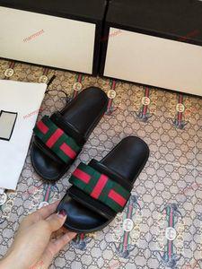 Gucci slippers xshfbcl Uomini Pantofole donna dal design di lusso di modo classico morbido scorrere sandali stampa floreale casuale gomma Infradito Slipper floreale blu
