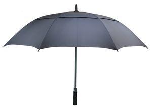 Гольф Зонтик для мужчин Автоматического Открытого ветрозащитного Зонтики Extra Large Double Негабаритного Навес вентилируемого Водонепроницаемых Стики 62 дюймов