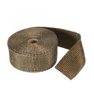 Scarico Heat Pipe Wrap Titanio 10m x 50MM rullo + 10 inossidabili legami locali archivio automobili suono Isolamento termico in cotone