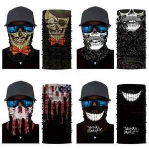 New Dustproof Protective Skull Scarf Protects Head Face Neck Unisex Magic Tube Skull Scarf Suitable For Fitness Jogging Wrist Strap H #66#407