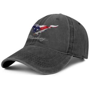 Bandeira elegante Ford Mustang americano Unisex Denim Baseball Cap projetar seu próprio logotipo do clássico chapéus brancos Logo flash ford ouro