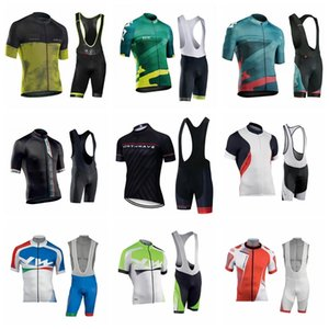 Nw Team Cycling Short Sleeves Jersey Bib Shorts Sets Men Short Sleeve Set Breathable Bib Shorts Bicycle Clothes Gel Pad Clothing