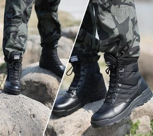Outdoor Hiking Shoes Tactical Boots Black Combat Boot Light Weight Breathable Hunting Shoes For Men Climbing Mountain Boots Training Shoes