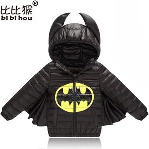 طفل الفتيان الفتيات سترة autmn الخريف الشتاء الدافئة أسفل معطف سترة باتمان قميص معطف عيد الأطفال أطفال ملابس هالوين