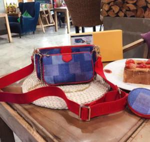 Designer Multi Pochette Marke Taschen Neue Mode Frauen Kleine Umhängetasche Kette Crossbody Handtaschen Geldbörsen 3 Stück Abendtaschen