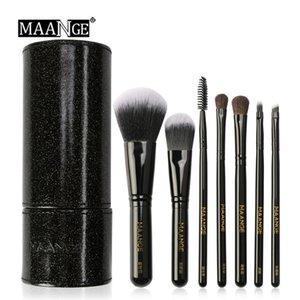 MAANGE New 7pcs Pennelli per trucco Set Soft Beauty Cosmetic Powder Ombretto Pennello per sopracciglio Foundation Cosmetic Holder Kit