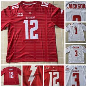 12 Cardale Jones DC Savunucuları XFL Futbol Jersey Tyree Jackson Rashard Ross Cole Boozer Donnel Pumphery Halid Abdullah Scooby Wright