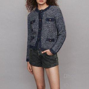 Coat female mixed color bright velvet T-shirt long-sleeved cardigan short knit sweater loose coat female