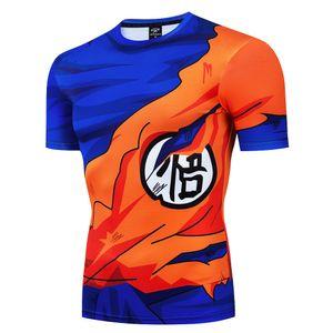 Dragon Ball T Shirt Men Summer Dragon Ball Z super son goku Slim Fit Cosplay 3D T-Shirts anime vegeta DragonBall Tshirt Homme