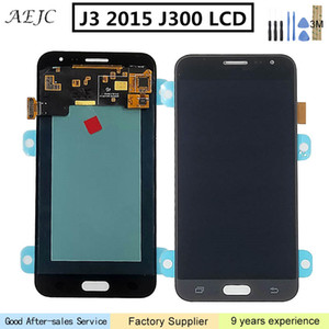 "5"" Super AMOLED Para Samsung J3 2015 LCD J300 J300F J300H J300FN display Touch Screen Screen digitalizador Assembly Para Samsung J3"