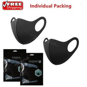 Моющийся многоразовый защитный рот Велоспорт маска черный Anti Dust Ткань Женщины Мужчины пыле Рот-муфельной маска для лица Рот Маски FY9041