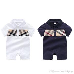 Abbigliamento per neonati a manica corta Plaid Pagliaccetto 100% cotone bambini abbigliamento per bambini 0-24 mesi Baby boys tute B210