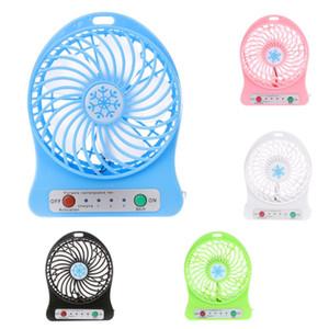 Ev OfficeDesk Seyahat ile LED Işık USB Şarj edilebilir Fan Handheld Taşınabilir Mini Fan 3 Hız Ayarlanabilir Fanlar