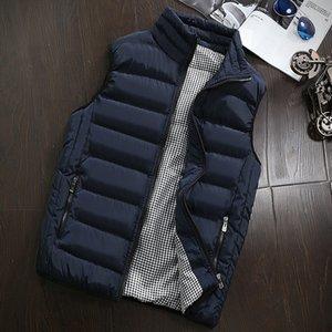 Yiverc мужские жилеты весна осень мужские стильные 2021 жилет мужские плюс размер 5xL теплый без рукавов куртка зимний жилет вскользь