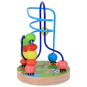 Brand Baby Boys Girls Montessori Wooden Toys Educational Wood Beaded For Children Kids Toy Gifts, Farm
