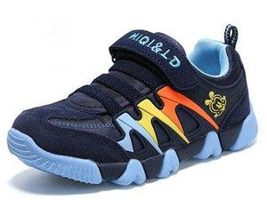 Jeff Sneaker grands enfants enfants bleu marine joli joli mode Chaussures Casual confortable mesh léger