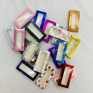 Eyelashes box empty box with tray new style popular package best selling lashes box customization wholesale