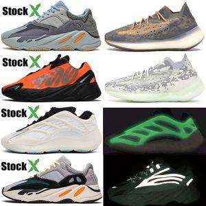 Kanye West 700 Running Shoes Azael Alvah Skeleton Alien Mist Carbon Blue 700 v2 Wave Runner Vanta Trainer Men Women Luxury Designer Sneakers