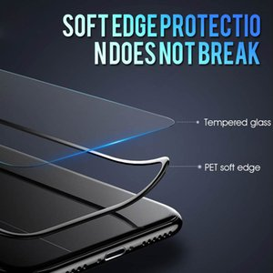 25D Curved Soft Edge Glass On The For iphone 6 6s 7 8 Plus X Glass Protector on i XR XS 11 Pro Xs Max Film