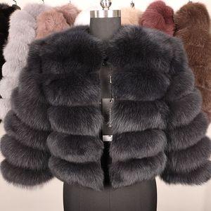 Natur Wirkliche Pelz-Mantel Frauen-Winter-50CM Naturfell-Weste-Jacke Art und Weise Outwear Echt Weste Mantel