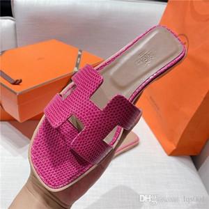 2020 женщин дизайнера роскошного Орана сандалии случайной обуви ручных работа тапочки из натуральной кожи звезда марочного HER 2246 размера pantoufle 35-40 с коробкой