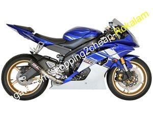 YZF600 bleu blanc Carénage Pour Yamaha YZF R6 YZFR6 Moto Carrosserie Kits 08 09 10 11 12 13 14 15 16 (moulage par injection)