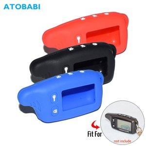 Anahtar Vaka Car için 9010 9030 Silikon Anahtar Kılıf İçin Tomahawk -9030 TW-9020 TW-9010 Çift Yönlü Araç Hırsız Alarmı LCD Anahtarlık