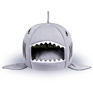 Pet Yatak Kedi Köpek Köpekbalığı Şekli Yastık Köpek Evi Kedi Kennel Sıcak Pet Sıcak Taşınabilir Köpek Malzemeleri 1 adet