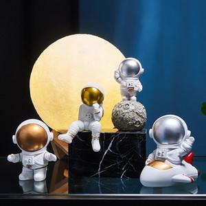Miniature Nordic Resina Criativo astronauta Escultura loja estatueta Artesanato Desk Decoração Acessórios dos desenhos animados Presente de aniversário